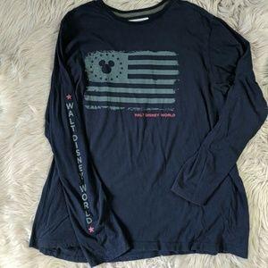Disney navy long sleeve shirt
